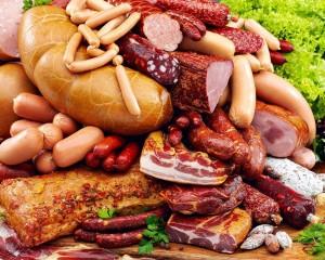 průmyslově zpracované maso